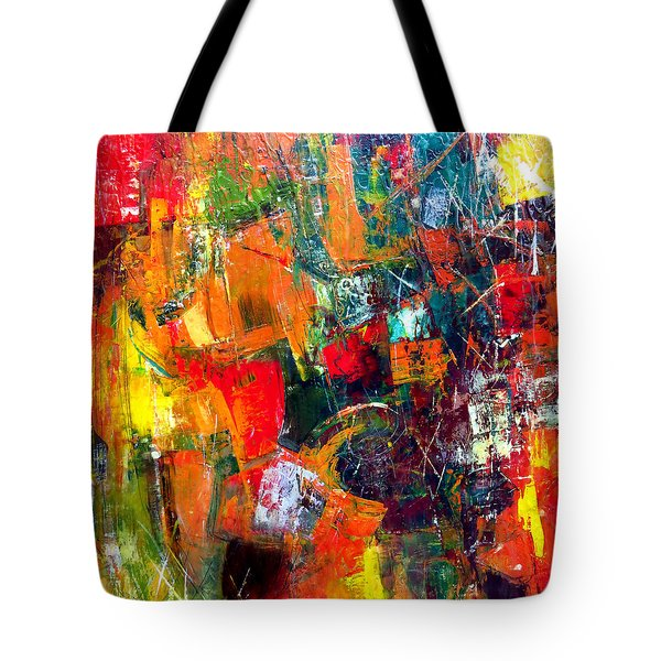Tote Bag featuring the painting Runaround by Katie Black