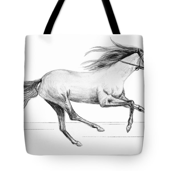 Tote Bag featuring the drawing Runaway by Sophia Schmierer