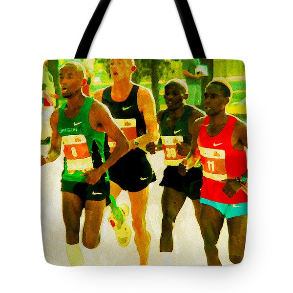 Runners Tote Bag by Alice Gipson