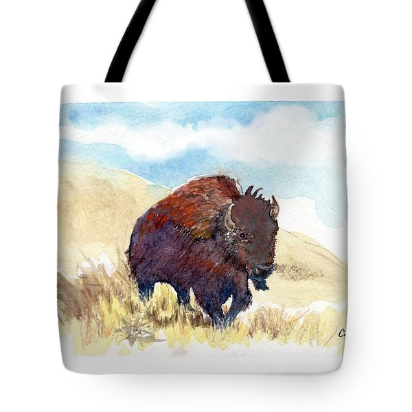 Running Buffalo Tote Bag