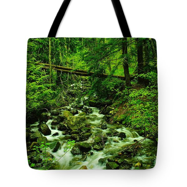 Running Down The Mountain Tote Bag by Jeff Swan