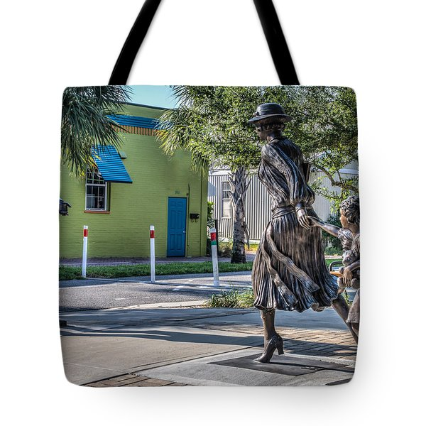 Running For The Train Tote Bag by Jane Luxton