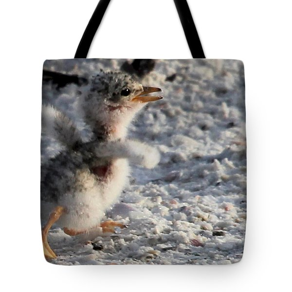 Running Free - Least Tern Tote Bag by Meg Rousher