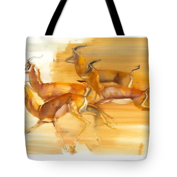 Running Gazelles Tote Bag