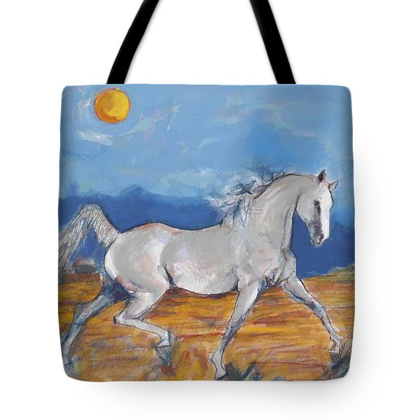 Running Horse M Tote Bag by Mary Armstrong