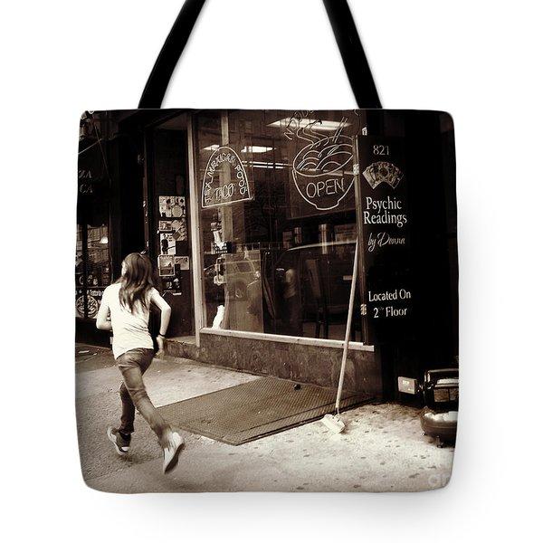 Running Tote Bag by Miriam Danar