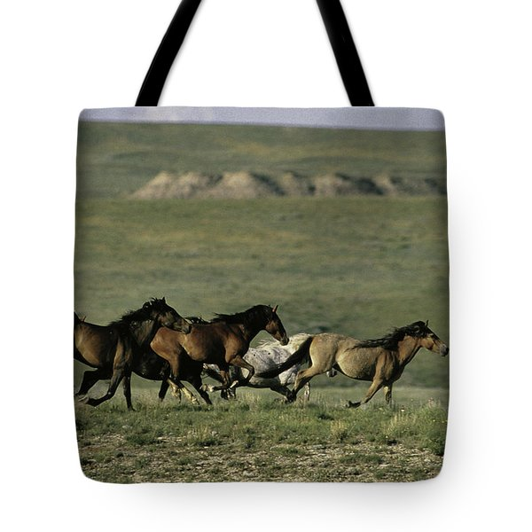 Running Mustangs Sd Tote Bag