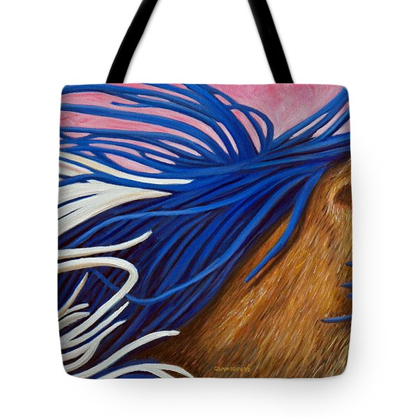 Running Thunder Tote Bag by Brian  Commerford