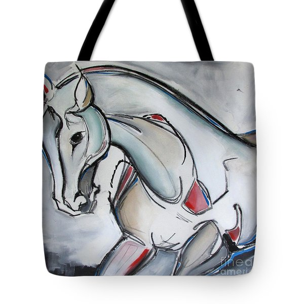 Tote Bag featuring the painting Running Wild by Nicole Gaitan