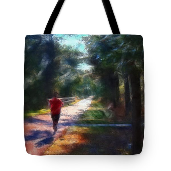 Running Tote Bag by William Sargent