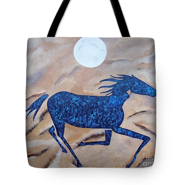 Running With The Moon Tote Bag