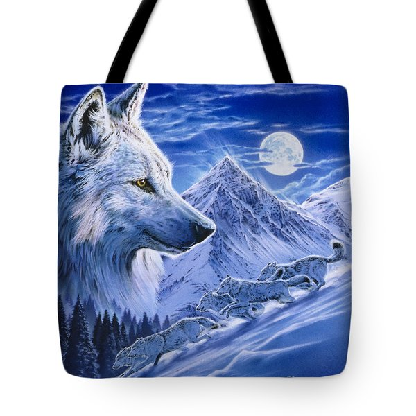 Running With The Pack Tote Bag