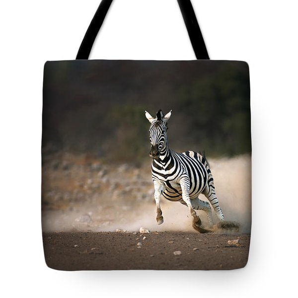 Running Zebra Tote Bag