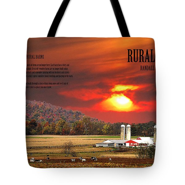 Tote Bag featuring the photograph Rural Barns  My Book Cover by Randall Branham