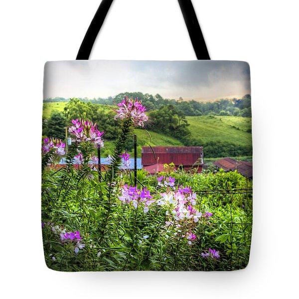 Rural Garden Tote Bag by Debra and Dave Vanderlaan