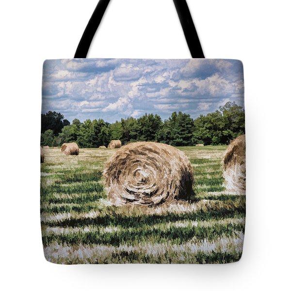 Tote Bag featuring the painting Rural Georgia by Linda Blair
