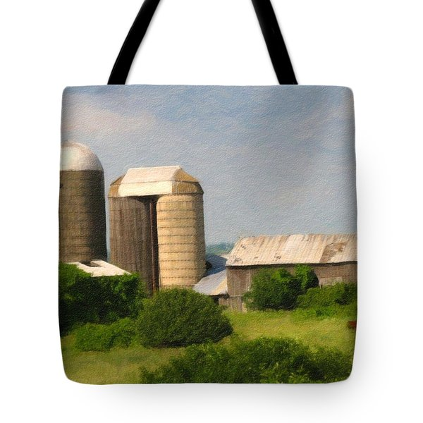 Rural Life - Digital Painting Effect Tote Bag