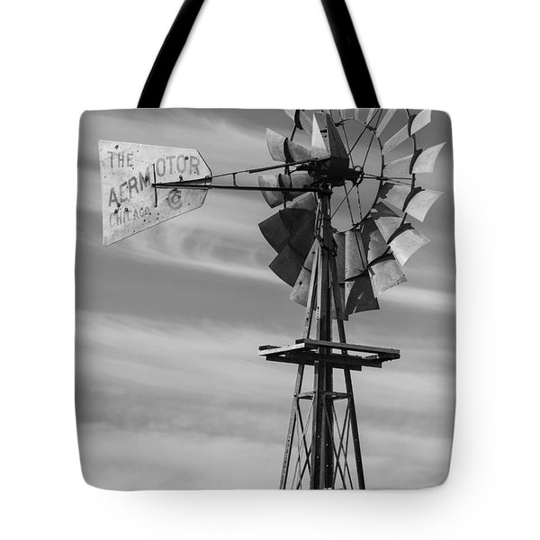 Rural Nebraska Windmill Tote Bag