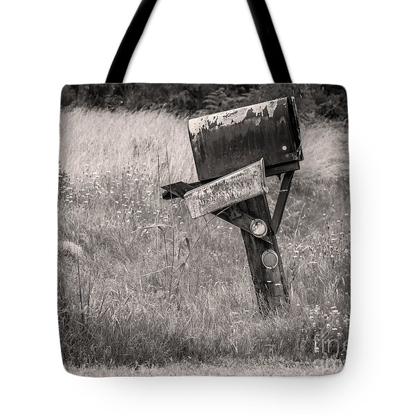 Tote Bag featuring the photograph Rural Route Mail Call  by Jean OKeeffe Macro Abundance Art