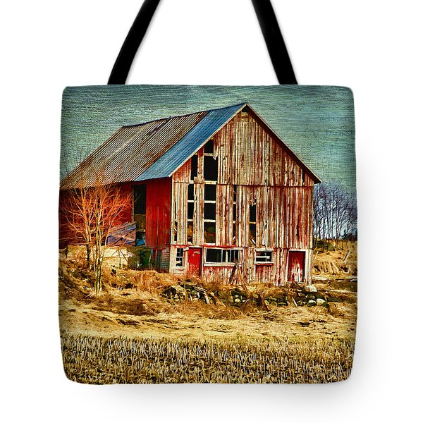 Rural Rustic Vermont Scene Tote Bag