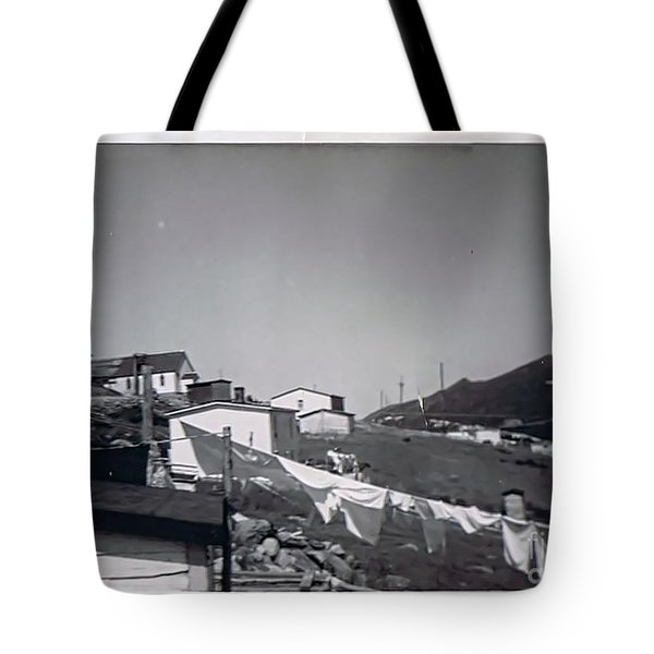 Rural Washday 1969 - Nostalgic Memories Tote Bag by Barbara Griffin