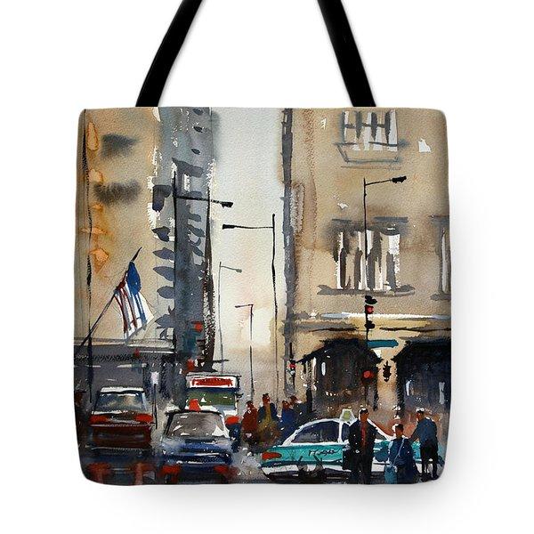 Rush Hour - Chicago Tote Bag by Ryan Radke