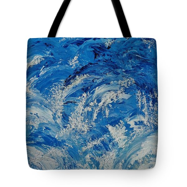 Tote Bag featuring the painting Rush by Katherine Young-Beck