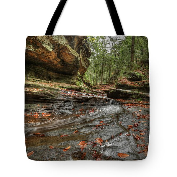 Rush To Old Man's Cave Tote Bag