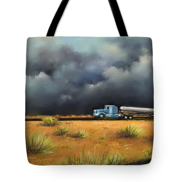 Tote Bag featuring the painting Rushing Home by S G