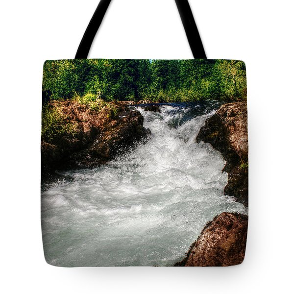 Rushing Rogue Gorge Tote Bag by Melanie Lankford Photography