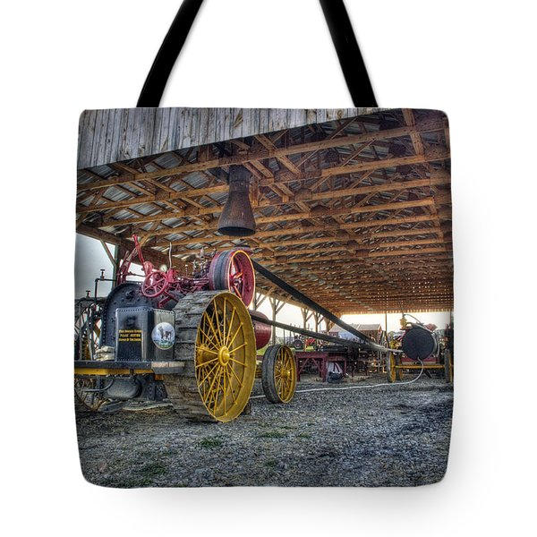 Russell At The Saw Mill Tote Bag