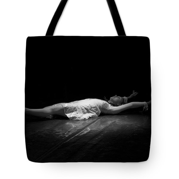 Russian Ballerina As A Melting Snowflake. Tote Bag