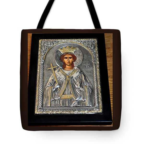Russian Byzantin Icon Tote Bag by Jay Milo