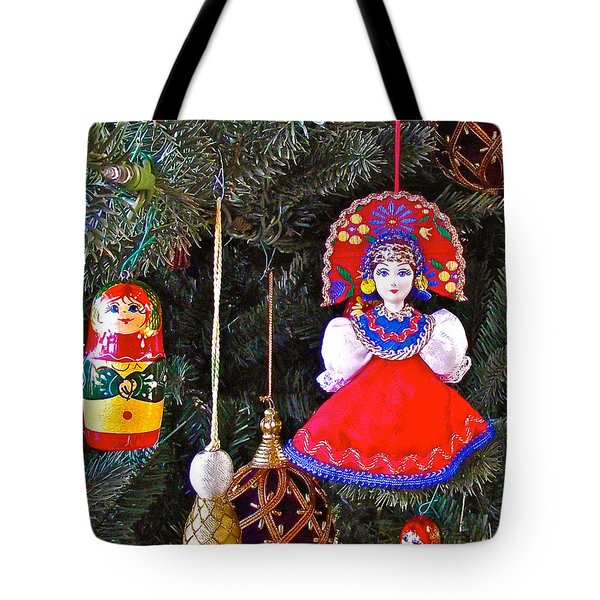 Russian Christmas Tree Decoration In Fredrick Meijer Gardens And Sculpture Park In Grand Rapids-mi Tote Bag