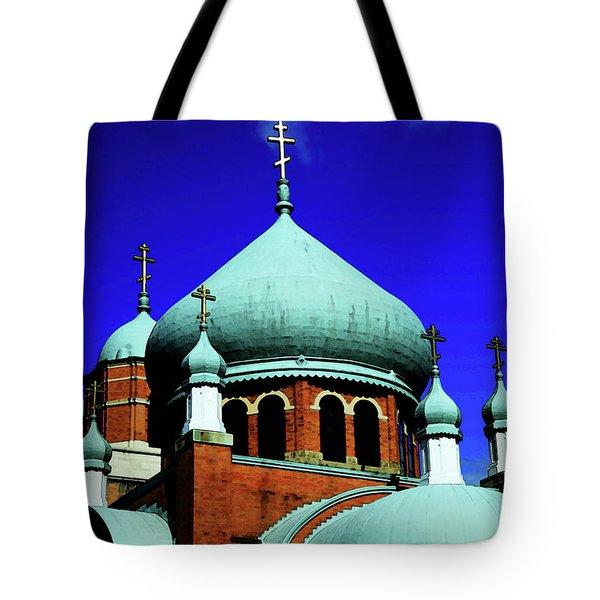 Russian Orthodox Church Tote Bag by Karol Livote