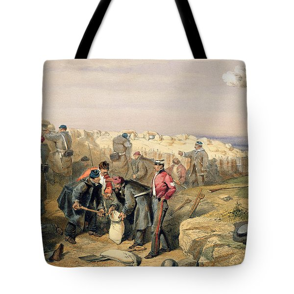 Russian Rifle Pit , Plate From The Seat Tote Bag
