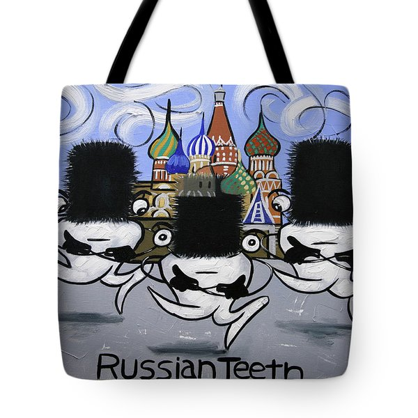 Russian Tooth Tote Bag by Anthony Falbo