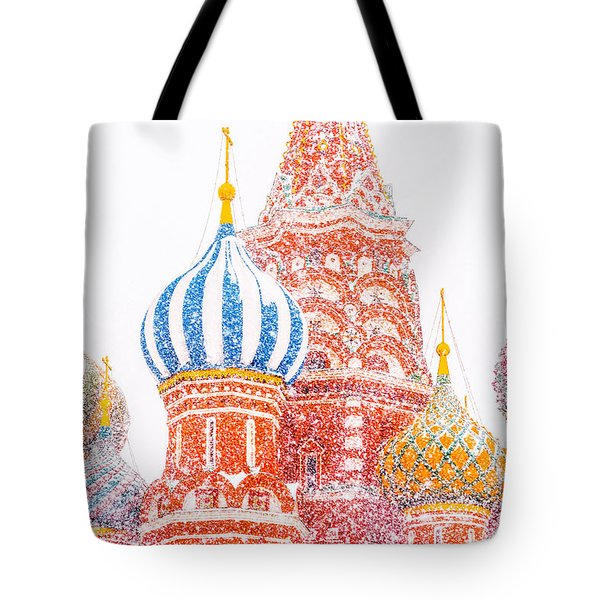 Russian Winter Tote Bag by Alexander Senin