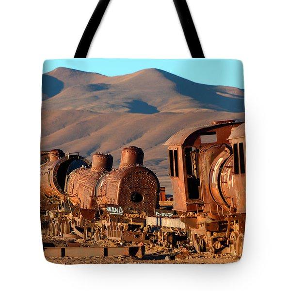 Rust In Peace Tote Bag by James Brunker