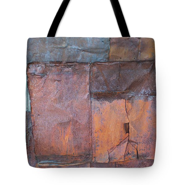 Tote Bag featuring the photograph Rust Squared by Fran Riley