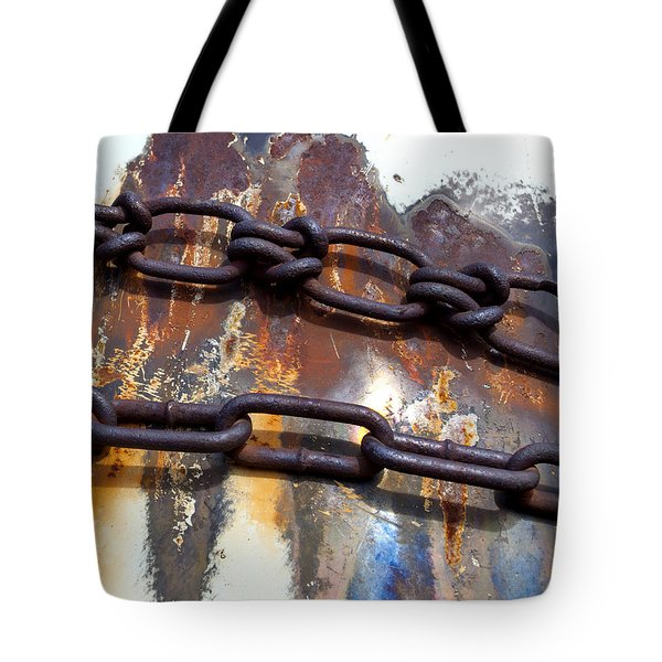 Rusted Links Tote Bag by Fran Riley