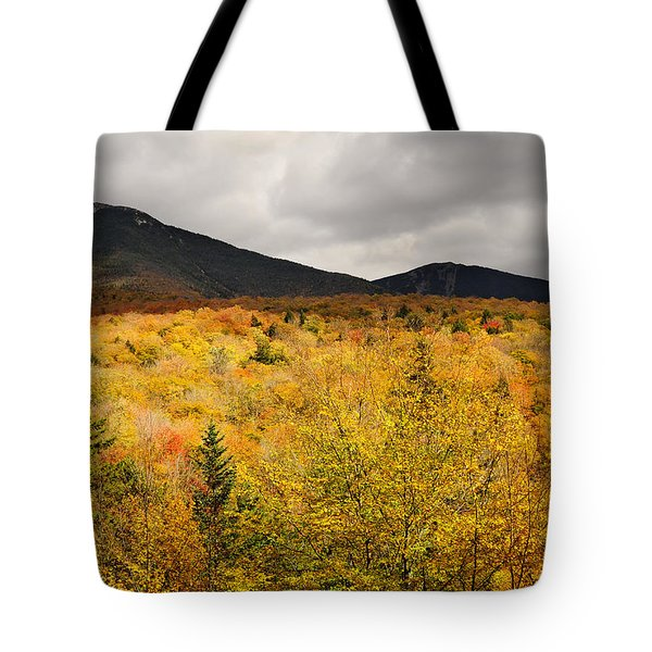 Rustic Autumn At Franconia Notch Tote Bag