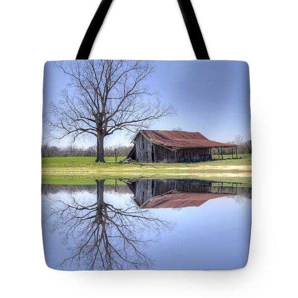 Rustic Barn Tote Bag by David Troxel