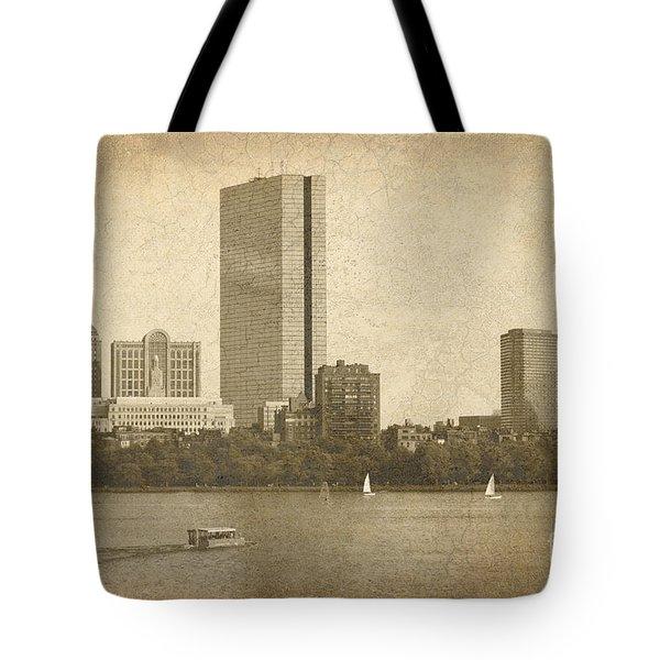 Rustic Boston Tote Bag by Jayne Carney