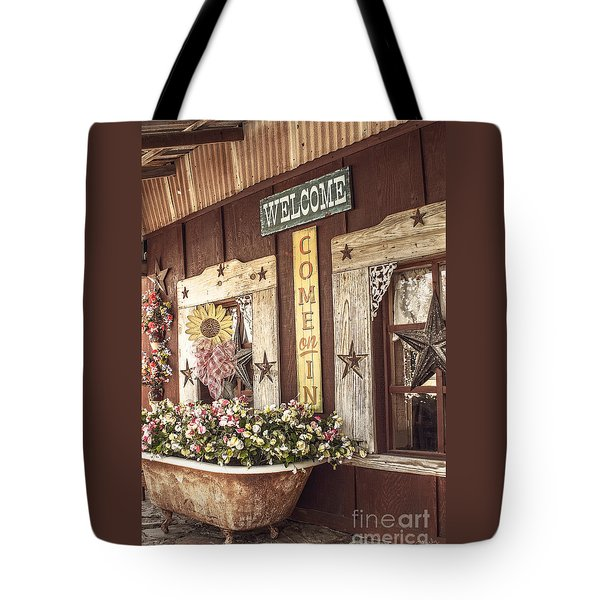 Rustic Country Welcome Tote Bag