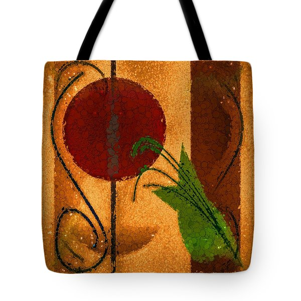 Tote Bag featuring the painting Rustic Elegance Geometric Autumn Abstract by Tracie Kaska