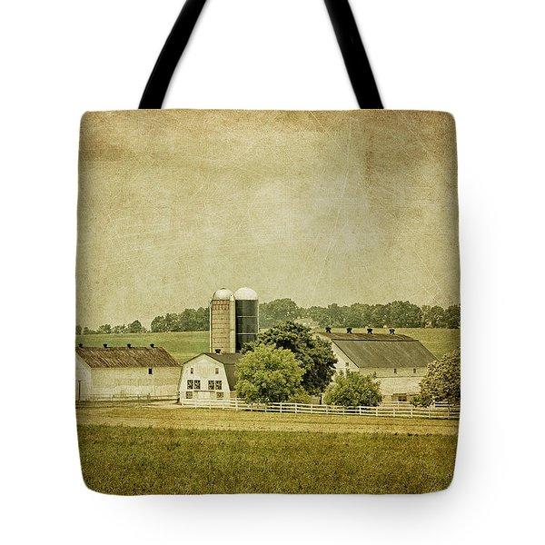 Rustic Farm - Barn Tote Bag by Kim Hojnacki