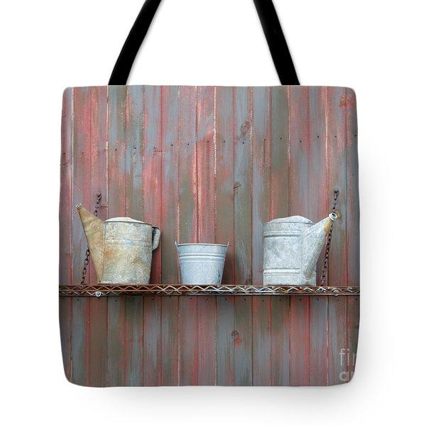 Rustic Garden Shelf Tote Bag by Ann Horn