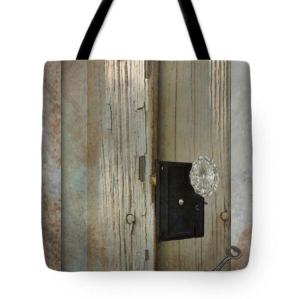 Rustic Glass Door Knob Tote Bag