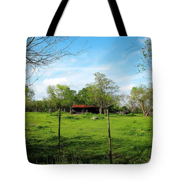 Rustic Land Of Beauty - Rural Texas Tote Bag